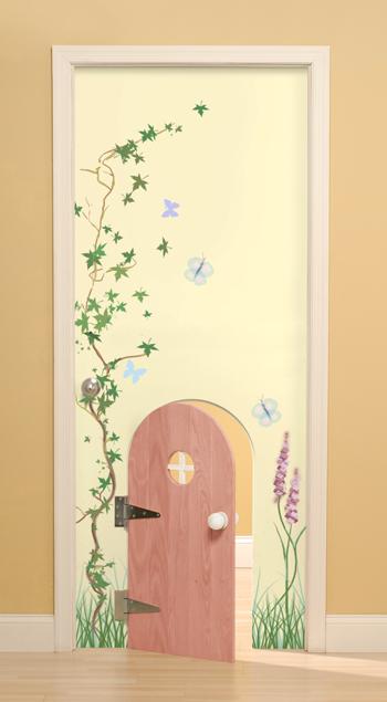 Как декорировать дверь в детскую